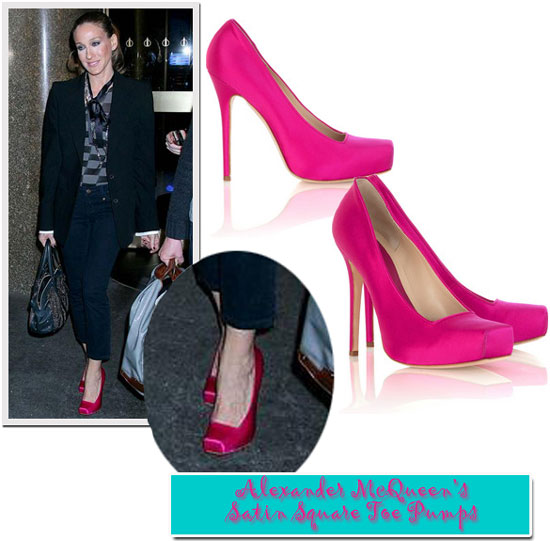 hot pink shoes. that a hot pink shoe is a